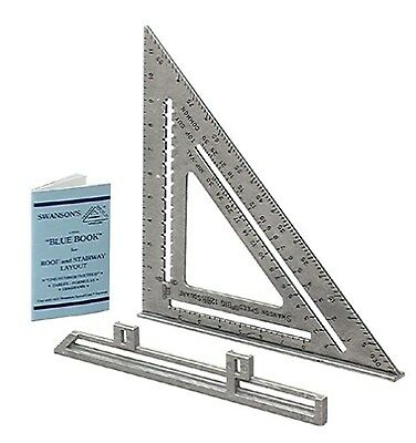 Swanson Tool S0107 12-Inch Speed Square Layout Tool with Blue Book (Plastic) NEW