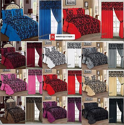 Luxury 3 PC (piece) , Comforter Set, Bedspread,Bed Spread with matching Curtains