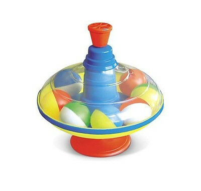 Spinning top with balloons