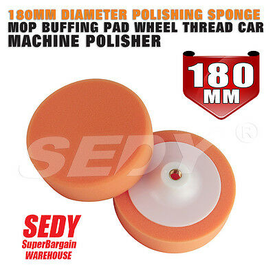 Car Polisher 180mm Foam Sponge Wheel Buffing Pad Polishing Replacing Pad