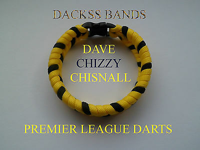 Premier League Darts HandMade Dave Chizzy Chisnall Paracord WristBand Bracelet