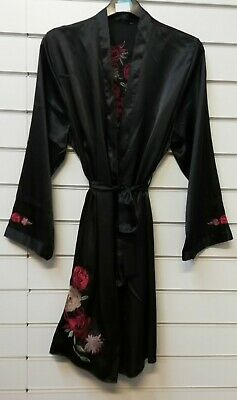 Ladies Quality Satin Dressing Gown//Robe UK Sizes 8-22 Various Colours and Print