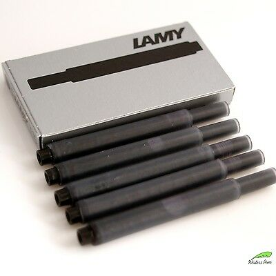 Black Lamy T10 Fountain Pen Ink Cartridges Giant Refills - 5pcs - NEW