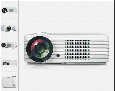 New 4500 Lumens 1920x1080P LED Lamp Full HD HDMI LCD 3D Projector Home Theater