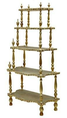19Th Century French Gilt Carved Whatnot Stand