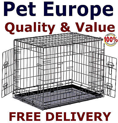 Dog Cage Puppy Crate Small Medium Large XL XXL Pet Carrier Training Cages Crates