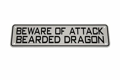 BEWARE OF ATTACK Snake Reptile Sign Frog Bearded Dragon