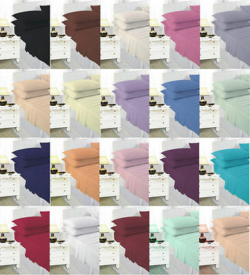 Plain Quality Fitted Sheets Flat Sheets , Valance Sheets Bed Sheets, All Sizes