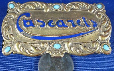 Antique Press Brass Small Stamp or Pen Nib Box Caseanets Germany