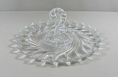 Fostoria Glass COLONY-CLEAR Center Handle Tray Excellent