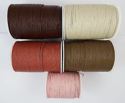 100% Real Round leather cord 1.5,2,3,4,5mm  Necklace jewellery tools