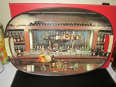 VINTAGE RETRO,MANCAVE BAR PICTURE TRAY