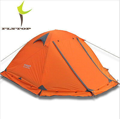 Double Layer Camping Tent 2 Person 4 Season Outdoor Topwind 2 PLUS Snow Skirt