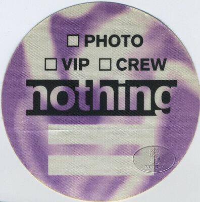 Nine Inch Nails & Helmet 1995 Backstage Pass Nothing Records
