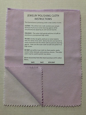 """Silver Polishing Cloth Connoisseurs 8"""" x 11"""" Jewelry Cleaner Bagged Gold Silver"""