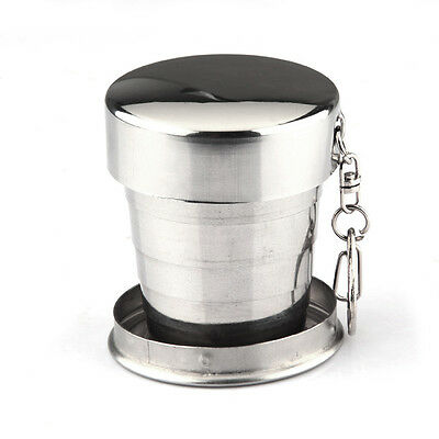 Stainless Steel Telescopic Retractable Travel Folding Collapsible Cup ED