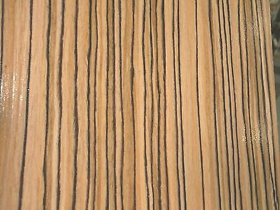 "Zebrawood African composite wood veneer 48"" x 96"" with paper backer 1/40th"""