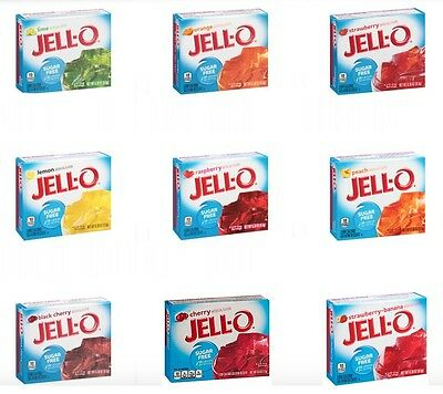 Sugar Free Jello Jell-O Gelatin Desserts, Low Carb, Atkins, Diabetic