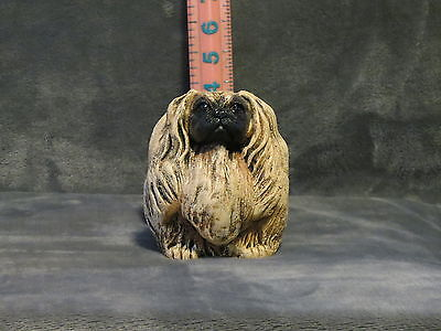 Pekingese Plaster Dog Statue Hand Cast And Painted By T.c. Schoch