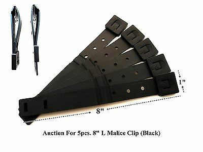 """5 x Tactical Tailor - Short 8"""" Black MALICE Clips For GERBER, BUCK Knife Pouch !"""