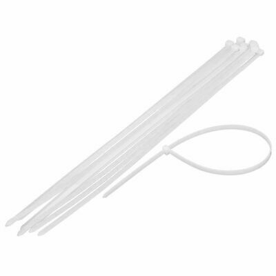 "12 Pcs 30"" x 0.35"" Extra Long Heavy Duty Outdoor UV Cable Industry Zip Ties Wht"