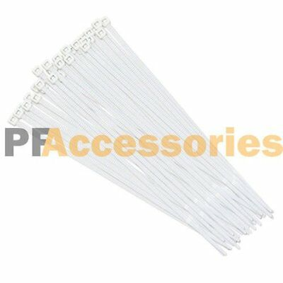"100 Pcs White Heavy Duty 12""x0.2"" inch 60 lbs UV Nylon Outdoor Cable ZIP Ties"