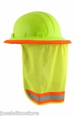 "ERB Hi Viz ""LIME"" Mesh Neck Shade Fits ALL Hard Hats ""Stay Cool"" FAST Shipping"