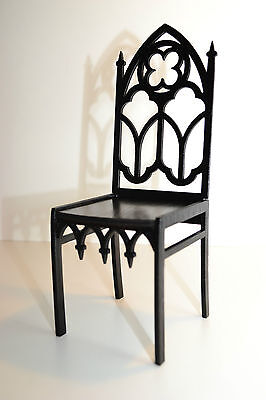 Furniture for dolls chair 1:4 18 inches Tonner BJD wooden Gothic style HIT NEW