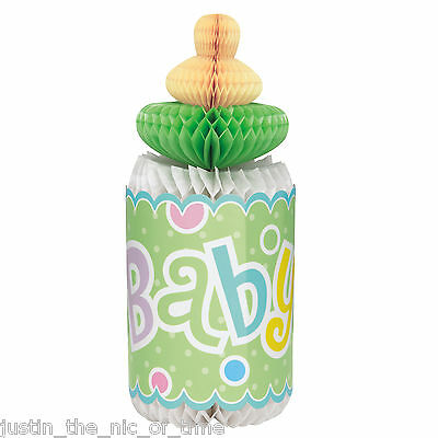 Baby Shower Unisex Party Tableware Decoration Boy Honeycomb Centrepiece 12""