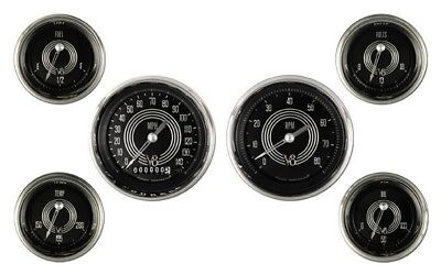 V8 Speedster Series Six Gauge Set - Classic Instruments - V8SR01SHC