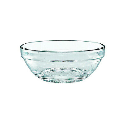 6x Duralex Toughened Glass Stackable Bowl 90mm / 120mL, SMALL, Condiment