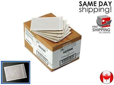 25x 5.5'' x 10'' Clear Packing Slip Invoice Shipping Label Envelope Pouch Bag