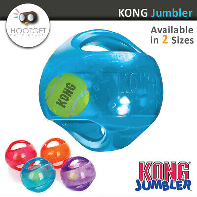 KONG Jumbler Ball - Pet Dog Puppy Fetch Squeaky Play Toy [M/L-L/XL] Pick Colour