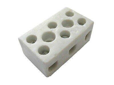 15A 3 Way Ceramic Connector Block | High Temperature Rating