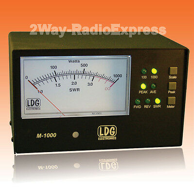LDG M-1000 External 4.5 inch SWR-POWER Meter for the AT-1000PROII Tuner