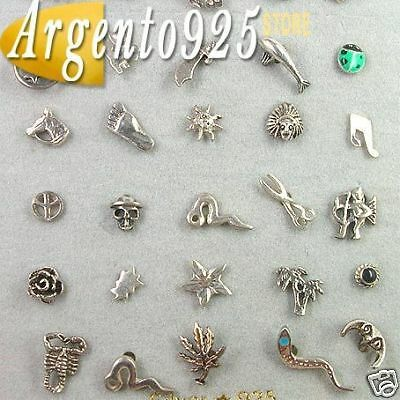 25 MINI ORECCHINI in Argento 925 LOTTO STOCK aa