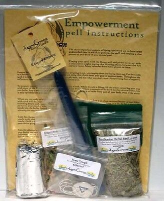 Empowerment All in One Ritual Spell Kit Pagan Witchcraft Altar Supply
