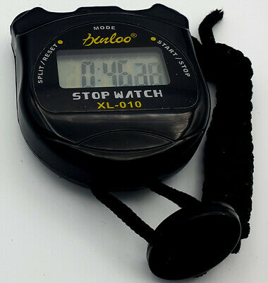 1/100Th Sec  Digital Handheld Sports Stopwatch  Time Clock Alarm Counter Timer