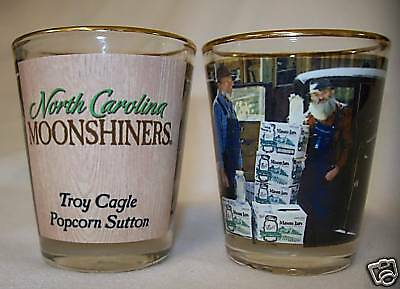 Popcorn Sutton Shot Glass -  Moonshine - Moonshiners