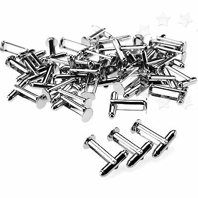 100x SILVER Color Plated Flat round Cufflink Findings Cuff Link Blank