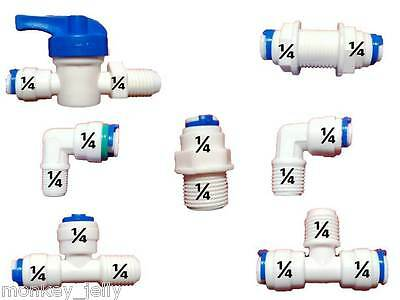 "1/4"" All Types of Quick Fit Pipe Fittings for American Fridge & RO Units"