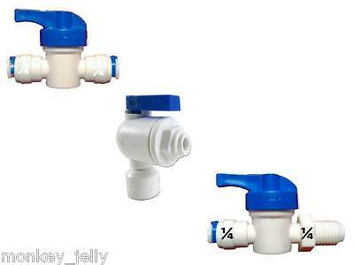 "1/4"" All Types of Quick Fit Pipe Fittings Ball Stop Control Flow Valves Valve"