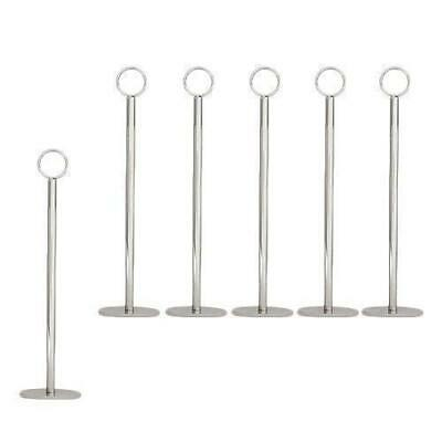 6x Number / Sign Holder, Ring Chrome 300mm Cafe Table Stand, Event & Restaurant