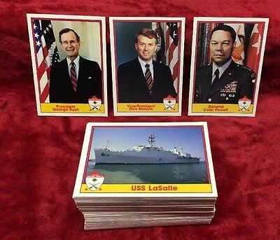 Set of Operation Desert Shield Trading Cards #1 thru 110 Mint Condition