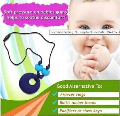 Baby Silicone Teething Necklace.Mum Wear jewellery  Baby Chew.