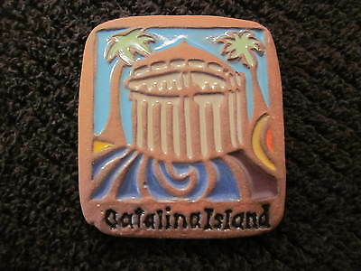 CATALINA ISLAND TILE 3 x 2.75 INCHES CASINO HISTORICAL DECORATIVE PAVER MAGNET