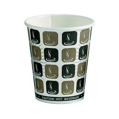 8oz Caffe Hot Drinks Paper Cups 50/100/250/500/1000 Disposable
