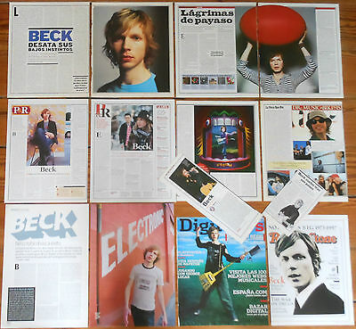 BECK spanish clippings photos magazine articles cuttings