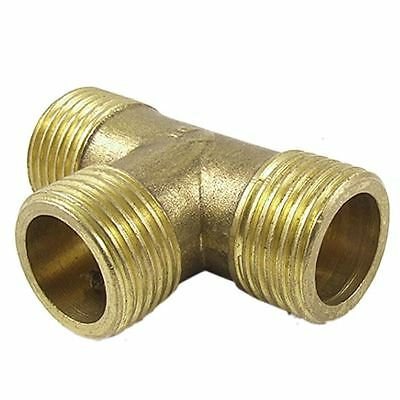 Brass T Shape Water Fuel Pipe Male Tee Adapter Connector 1/2 3/4 1 inch Thread