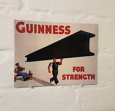 Guinness Retro metal Aluminium Sign vintage bar pub man cave beer signs shed den